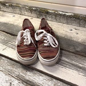 Airwalk Red Striped Canvas Shoes
